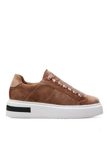 Twenty Eight Shoes brown Ribbon Squared-toe Platform Shoes 010-9 TW446SH2V3K2HK_1