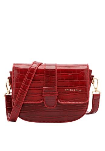 Swiss Polo red Classic Crocodile Sling Bag 3BD6CACA9A6B1AGS_1