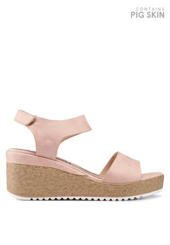 BETSY 粉紅色 楔型涼鞋 ABB12SHB21A458GS_1