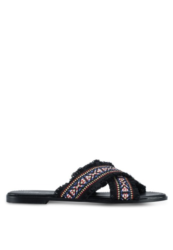 OVS multi Crossover Sandals With Ethnic Print 636EFSHE1CE34FGS_1