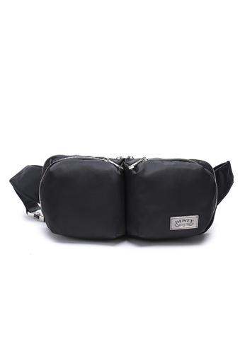 DUSTY black Multi-functional Compartment Waist Bag 8CFB2AC0D64FFCGS_1