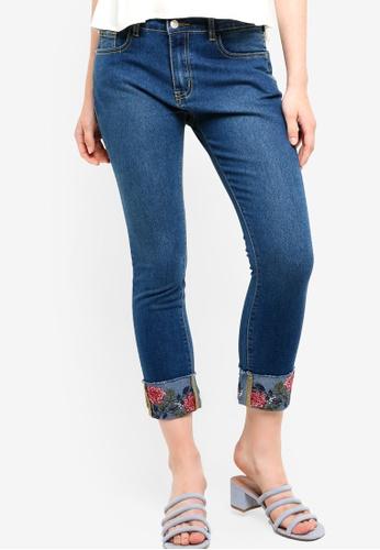 Something Borrowed blue Rolled Up Cuffed Jeans 84DE2AA11F9DEAGS_1