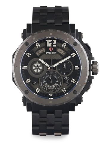 Expedition black Expedition Jam Tangan Pria - Black - Stainless Steel - 6402 MCBEPBA EX136AC0UKEJID_1