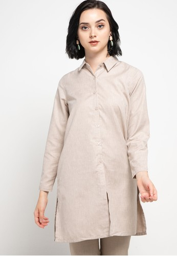 GEELA brown Griffit Shirt 36001AA11FDA5BGS_1