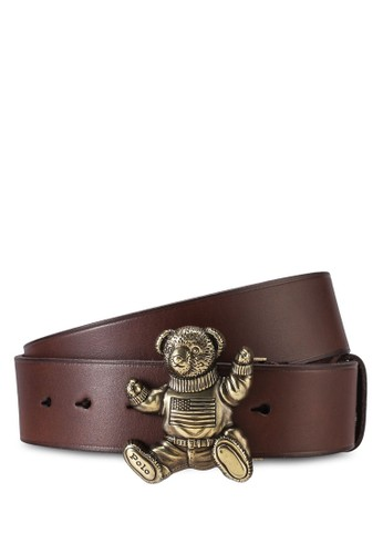 Polo Ralph Lauren brown Bear Casual Smooth Leather Belt 540F1AC3BBC67AGS_1