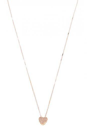 Fleur Jewelry gold Cœur Whole Heart Tiny Necklace 004E6AC64A6970GS_1