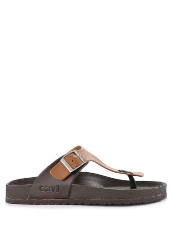 CARVIL brown Sandal Footbed Men Houston-01M 61930SH0ED800CGS_1