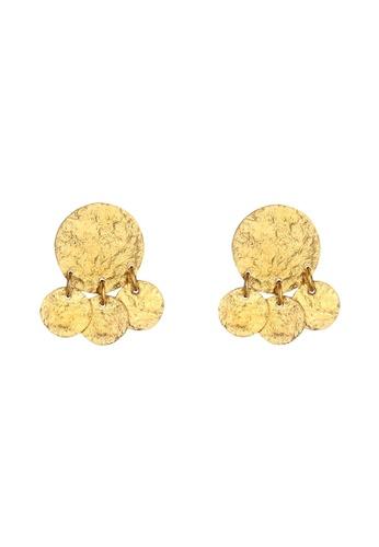 ELLI GERMANY gold Platelet Geo Look Matte Trend Earrings 535A7AC64B7623GS_1