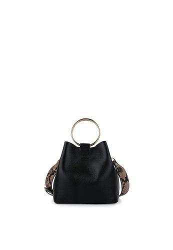 Della Stella black Luck Holic Square Tote Bag A231DAC24D195AGS_1