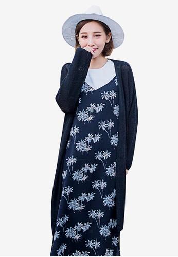 Tokichoi black Longline Knitted Cardigan 4A0D1AA13DE304GS_1