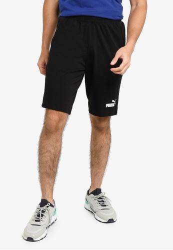 PUMA black Essentials Jersey Men's Shorts 17ACDAA97E5044GS_1