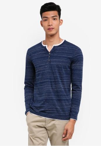 ESPRIT navy Long Sleeve T-Shirt 45C41AA01D850CGS_1