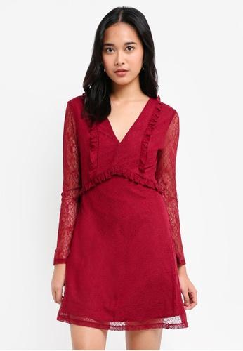 c7c0bd46c Something Borrowed Ruffle Lace Babydoll Dress On Zalora. Olinii Babydoll  Dress Red