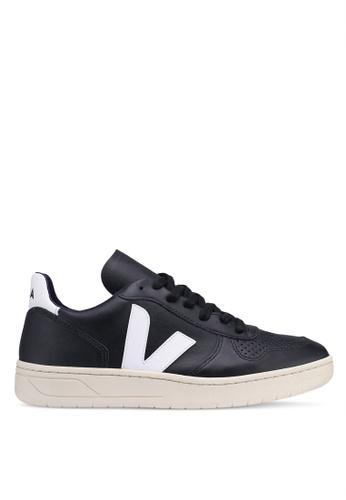 a291d7bff1a77d Buy Veja V-10 Leather Sneakers Online | ZALORA Malaysia