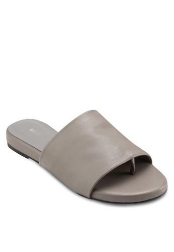 簡約寬帶涼鞋,esprit tw 女鞋, 懶人鞋