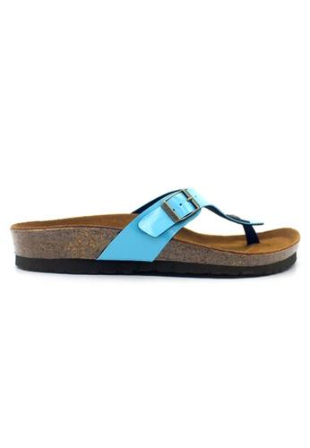 SoleSimple blue Prague - Glossy Blue Sandals & Flip Flops D48DASHF320E35GS_1