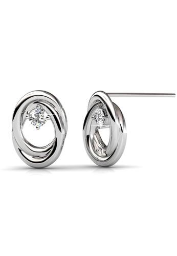 Her Jewellery silver Her Jewellery Circle of Life Earrings with 18K Gold Plated 8BB4FAC6132500GS_1