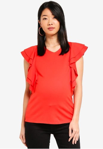 Spring Maternity orange Maternity Crissy Top 41F9DAA22C39ACGS_1