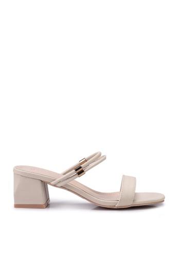 Kimmijim 米褐色 Kaylin Open Toe Block Heels 1B4DESHF717D0AGS_1