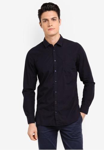 BOSS navy Cattitude Shirt - Boss Casual 83CD5AA83E0BACGS_1