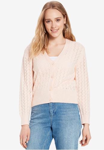 LC Waikiki pink V Neck Knitwear Cardigan 546E7AA980E940GS_1