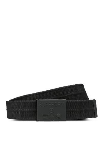 Superdry black NYC Woven Belt 5E503AC9195952GS_1