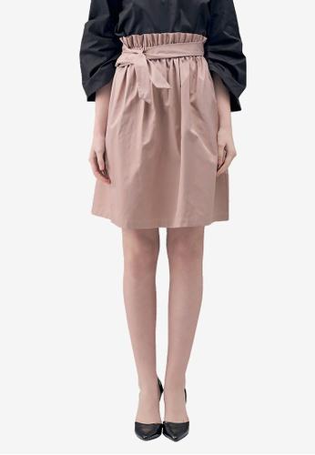 Kodz pink Bow Detail Paperbag Skirt EEE7BAA4C11D6AGS_1