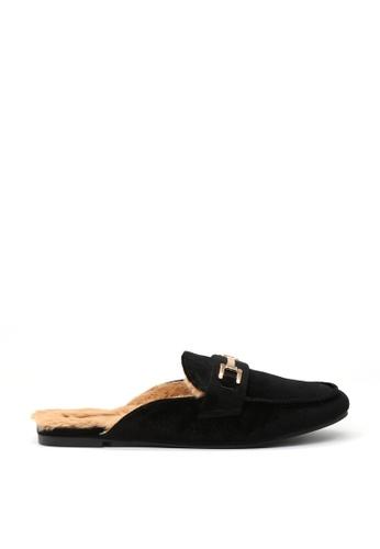 London Rag black Black Velvet Mules 10476SH9C49367GS_1