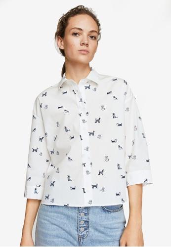 Mango white Animal Print Shirt 9E0D2AAC53EC5BGS_1