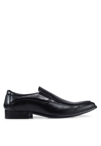 UniqTee black Formal Slip on with Stitch DAA78SH1055A32GS_1