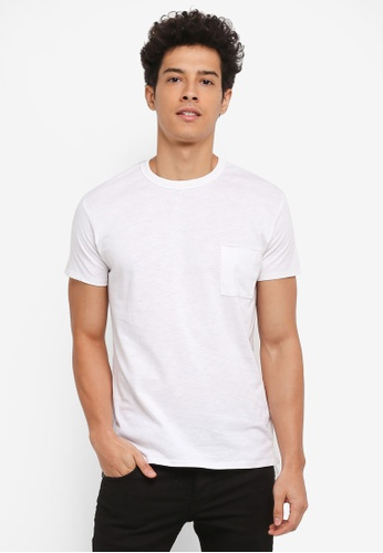 Electro Denim Lab white Slub Tee With Side Slit 4A004AA650D9C6GS_1