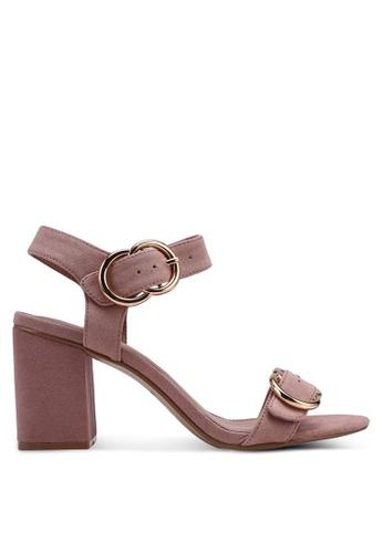 TOPSHOP 米褐色 Samba Two Part Sandals ACD09SH4FD59E1GS_1