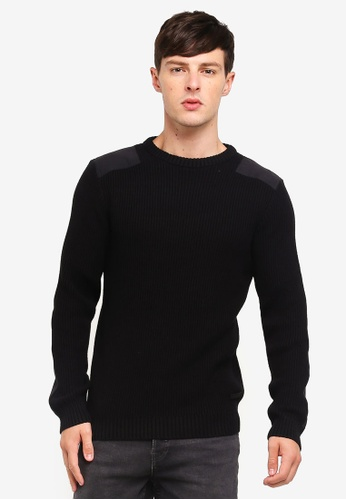 Jack & Jones 黑色 Crew Neck Pullover A6519AAD03A86BGS_1