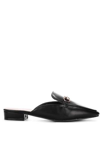 CLN black Frankston Mule Loafers D893DSHA67FA76GS_1