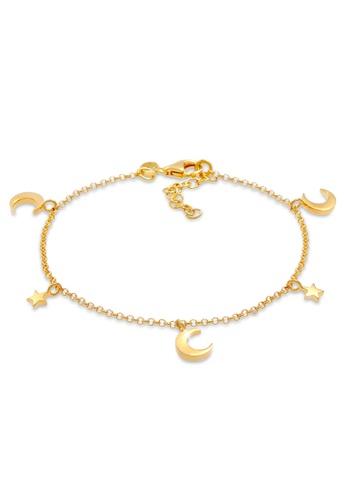 ELLI GERMANY gold Stars Astro Crescent Bracelet F5024AC26B6BAFGS_1