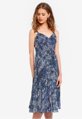 Forever New blue Serpentine Maxi Dress E2CF5AA17CF7BBGS_1