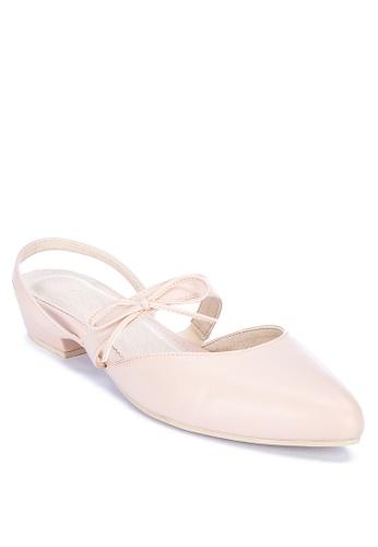 Shoo In beige Jordin Pointed Toe Flats 5BBD9SH5FA1C04GS_1