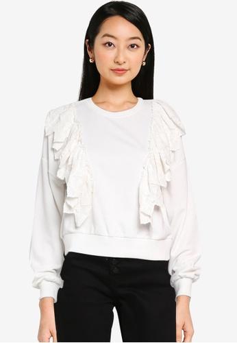 ONLY white Ofelia Life Sweatshirt F4440AA6FE6248GS_1