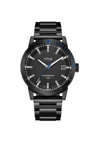 Solvil et Titus black Nordic Tale Men's 3 Hands Date Quartz Watch In Black Dial And Black Stainless Steel Bracelet D5568AC6884D21GS_1