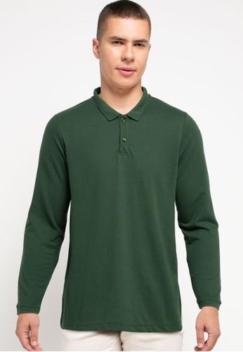 Tolliver green Long Sleeve Polo Shirts 76A2BAAD9CBDF3GS_1