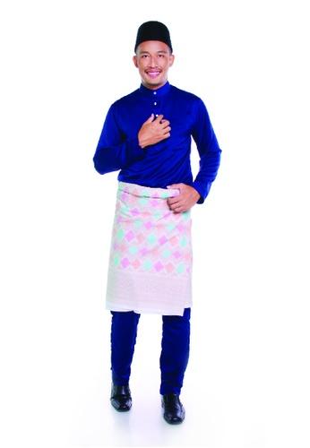 Khalifah by N blue and multi Baju Melayu Cekak Musang 2.0 Slim CCFB0AA887562BGS_1