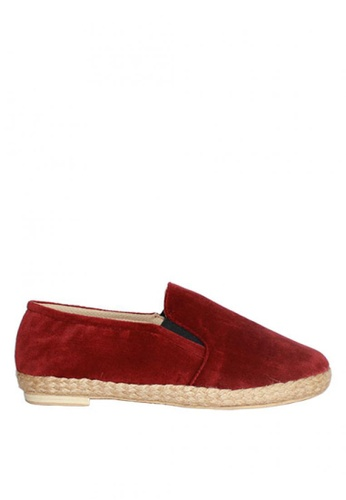 M&G red Espadrille Darrence Flats by M&G 452B8SHB39440EGS_1