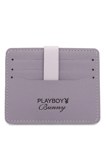 PLAYBOY BUNNY purple Women's Card Holder With Coin Compartment / Card Case B8C67AC03FEA32GS_1
