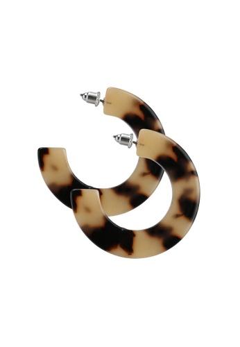 Red's Revenge brown Tort Half-Hoop Dangle Earrings 1BAE7ACF0791A7GS_1