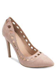 Cut Out Pointed Heel Pump