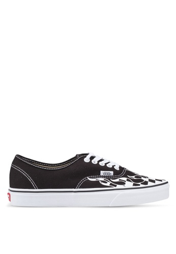 6e321297456 VANS black and white Authentic Checker Flame Sneakers D1EF8SHC6A1ED5GS 1