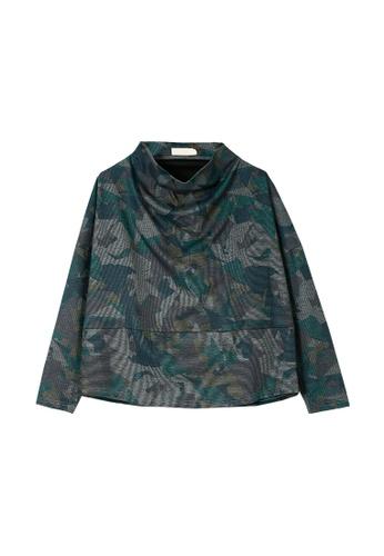 Its Me multi Loose Pile Collar Casual T-Shirt 1C3CBAA2AFAE4AGS_1