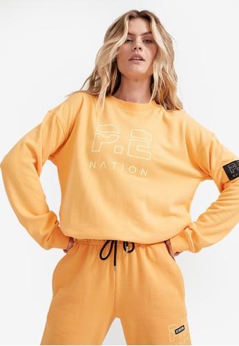 P.E Nation orange Heads Up Sweatshirt B4B01AA2B29AF7GS_1