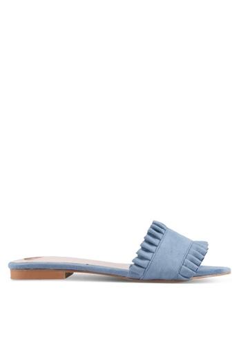 Velvet blue Printed Sandals ED889SHB76D7F5GS_1