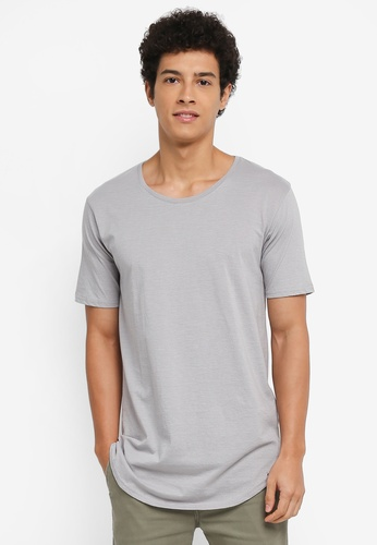 Factorie grey and multi The Curved Tall Tee F785BAAC5B0C1FGS_1